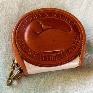 Vintage Dooney & Bourke Leather Cream Coin Purse